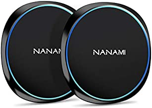 NANAMI Fast Wireless Charger, 10W Qi-Certified Wireless Charging Pad [2 Pack] Compatible Samsung S21/S20/S10/S9/S8/S7/Note 20/10/9/8, 7.5W for iPhone 12/SE 2020/11 Pro/XS Max/XR/X/8 Plus/New Airpods