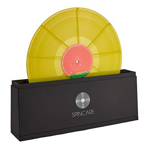 SPINCARE Schallplatten Reinigung für 18-25-30 cm Vinyl Schallplatten - Reinigungssystem mit Reinigungslösung - Mikrofasertüchern - Waschschüssel - Zubehör - Reinigt 500 LPs