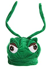 HOP ALONG TO A GOOD TIME: Dress your bitty bug in this Kids Grasshopper Plush Hat and they'll jump into a good time feet first SOFT AND COMFORTABLE: This fantastically fuzzy hat features plush, velvety construction ensuring easy all day wear FOR KIDS...