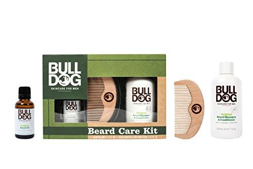 Bulldog Skin Care Beard X301230300 Set - Kit di Shampoo e Balsamo 2 in 1, Olio Idratante per Barba e Pettine da Barba