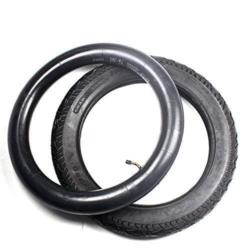 Neumáticos scooter eléctrico, ruedas scooter, 18 pulgadas, 18x3.0 76-355, tubo interior neumático compatible con vehículos eléctricos, triciclo eléctrico 18 * 3.0 monorrueda neumático todoterr