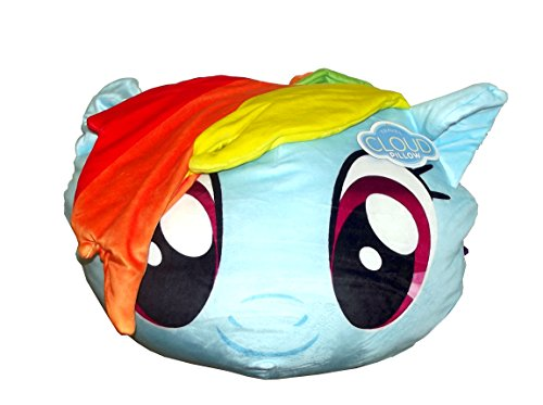 Hasbro's My Little Pony, 'Rainbow Dash' 3D Cloud Pillow, 14' Round, Multi Color