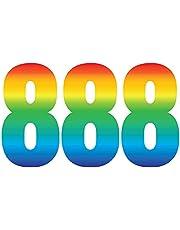 3 stuks Trendy Rainbow Wheelie Bin Nummer Zelfklevende Waterdichte Vinyl Stickers - Ideaal voor Out Door Wheelie Bins Vuilnisbakken Vuilnisbak Sara Prints