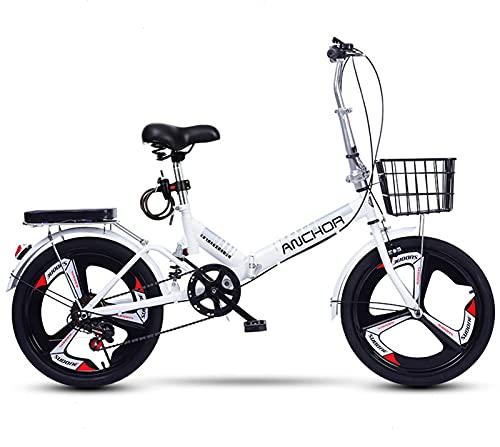ZLYJ Bicicleta Plegable De Aluminio Ligero De 20 Pulgadas con Cambio para Hombres Y Mujeres, Bicicletas Plegables, Sistema De Plegado Rápido para Bicicletas Urbanas B,20 in