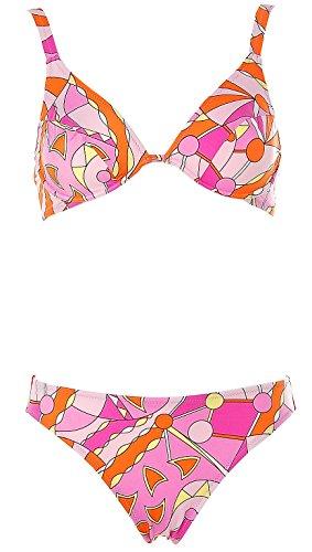 APART Fashion Damen Bügel Bikini Gemustert (Pink, 34D)
