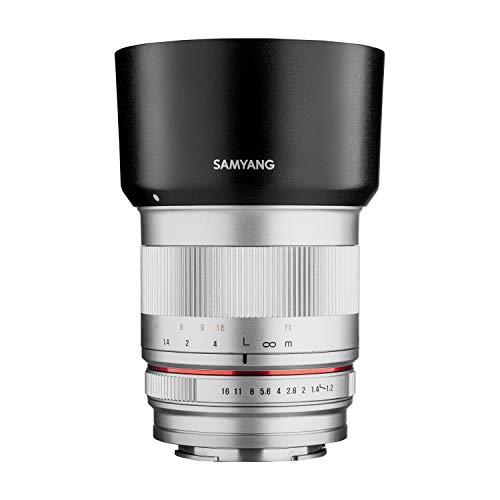 Samyang MF 50mm F1.2 APS-C Sony E silber - manuelles Foto Objektiv mit 50mm Festbrennweite für APS-C Kameras mit Sony E-Mount, ideal für Portrait, sanftes Bokeh, kompakt und leicht