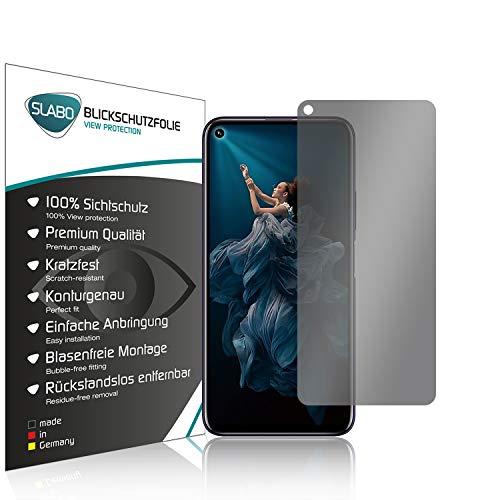 Slabo Blickschutzfolie für Huawei Honor 20 | Honor 20 Pro | Nova 5T Sichtschutz 4-Way Bildschirmschutzfolie 360 Grad View Protection Privacy Schwarz