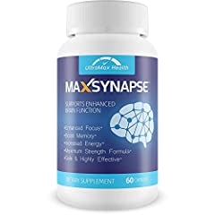 BRAIN HEALTH - Max Synapse includes the powerful nootropic herb Bacopa monnieri which has been used for thousands of years to improve brain health & cognition.* INCREASE ENERGY - Boost your mental & physical energy with ingredients such as Green Coff...