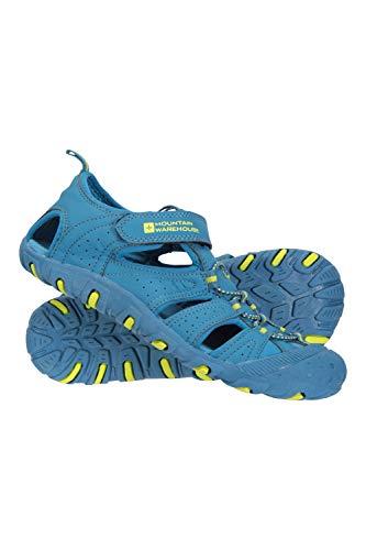 Mountain Warehouse Coastal Sandalen für Kinder - Neopren, Sommerschuhe, Zwischensohle, Strand-Flipflops zum Schlüpfen für Jungen & Mädchen Petrolblau 36
