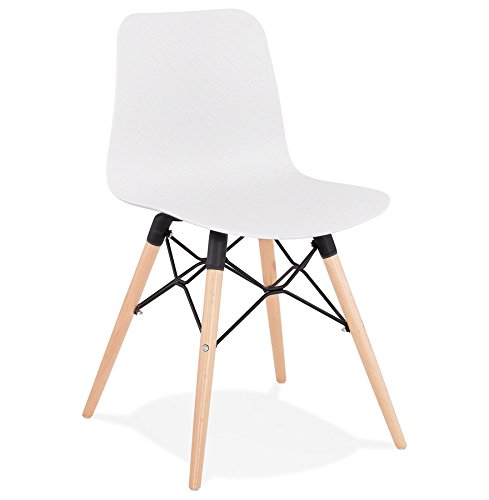 Alterego Chaise scandinave 'Tonic' Blanche Design