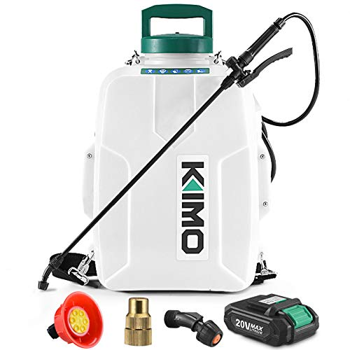 backpack weed sprayers Battery Powered Backpack Sprayer, KIMO 3 Gallon Garden Sprayer w/ 2.0Ah Battery for Long Time Spray, 2 Extended Wands, No Manual Pumping Required Electric Sprayer for Weeding, Spraying, Cleaning