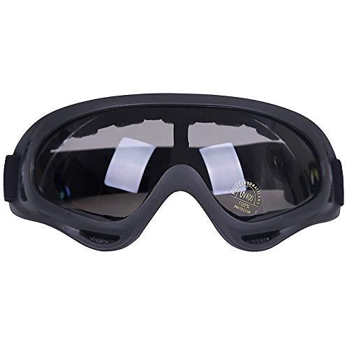 Kottle Al aire libre a prueba de viento esquí gafas con protección UV, montar lentes CS ejército táctico gafas militares gafas de seguridad de la motocicleta (Gris)