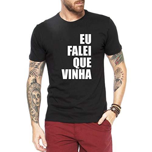 Camiseta Criativa Urbana Frases Eu Falei Que Vinha Preto G