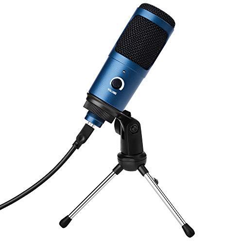 Micrófono PC con Soporte Trípode,Micrófono de Condensador,USB Plug...