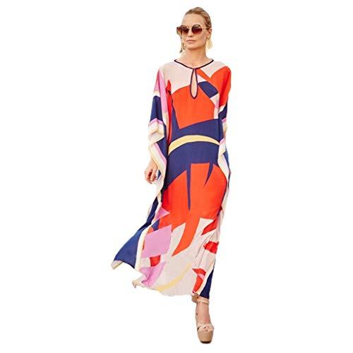 YULAN Mare for Vacanze op de Mare, Sciolto, strandrok van katoen, grote afmetingen, lange rok, badpak, badpak, blouse