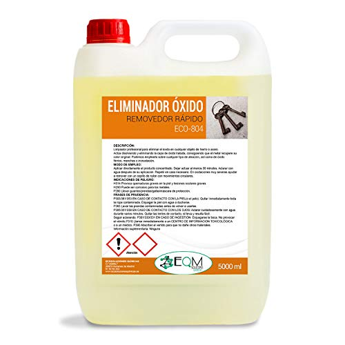 Ecosoluciones Químicas ECO-804 |5 litros | Eliminador de Óxido Profesional. Remueve el óxido Completamente