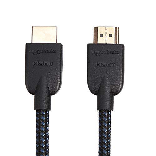 AmazonBasics Nylon-Braided 4K, 18Gbps HDMI to HDMI Cable, 10 Feet