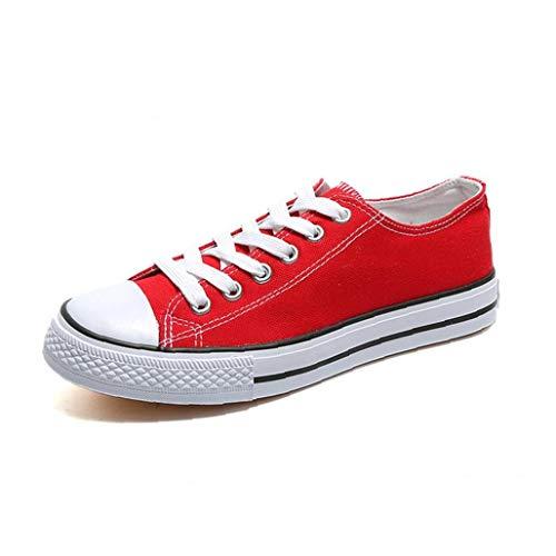 Zapatos De Lona Superiores Bajo De Las Mujeres Ata para Arriba La Plataforma Plana Alpargatas Zapatillas De Deporte Casuales Zapatos Ligeros Que Recorre por Un Rojo Al Aire Libre