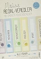 """Meine Regal-Veredler """"live - love - teach"""": 48 Ordner-Rueckenschilder - alle Faecher"""