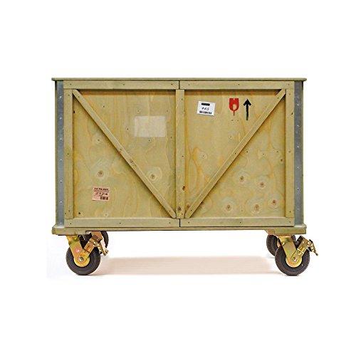 """Seletti 16397 - Mobile/madia in legno c/ruote""""export comò""""2ante e 1 ripianocm.120x55h.95"""
