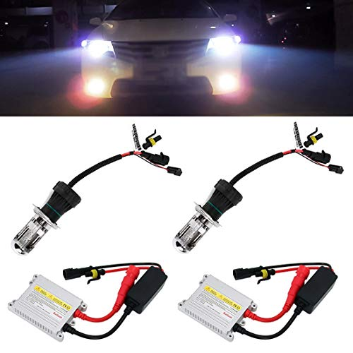 Lampada di ernia Car Xenon Light DC12V 35W 2x H4 Slim HID qualità Fanale anteriore lampadina, lampada a scarica ad alta intensità (Color : Color3)