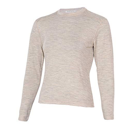 Kosha Girls Merino Wool & Bamboo Full Sleeves Thermal Top (Oatmeal,22)