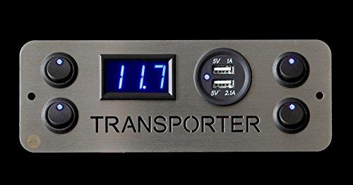 Lek Tek Mercedes Benz Vito autocaravana Caravana 12/V 16/A Triple interruptor de la luz
