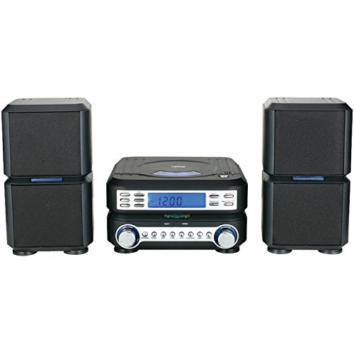 NAXA Electronics NAXA NS-438 Digital CD Micro System with AM/FM Stereo Radio, Black