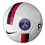 Nike PSG Supporters Soccer Ball Ballons entraînement Football Unisex-Adult, White/University Red/Midnight Navy, 5