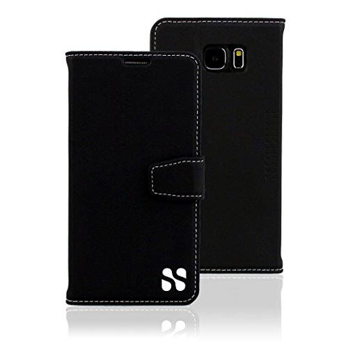 SafeSleeve EMF Protection Anti Radiation Galaxy Case: Galaxy S6 RFID EMF Blocking Wallet Cell Phone Case (Black)