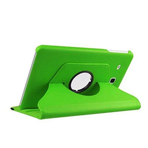 Lobwerk Tasche für Samsung Galaxy Tab E SM-T560 T561 9.6 Zoll Hülle Stand Slim Flip Book Cover Folio Skin (Grün)