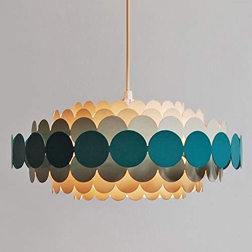 YHSGD Deckenleuchte Modern minimalistisches Design Lampen Kronleuchter Kreativer Kronleuchter Glas Lampenschirm Wohnzimmer Beleuchtung Warmes Licht,Black,40cm