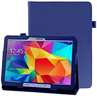 Lobwerk Hülle für Samsung Galaxy Tab 4 10.1 Zoll SM T530 T531 T533 T535 Smart Slim Case Book Cover Stand Flip (Blau)