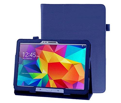 Hülle für Samsung Galaxy Tab 4 10.1 Zoll SM-T530 T531 T533 T535 Smart Slim Hülle Book Cover Stand Flip (Blau)