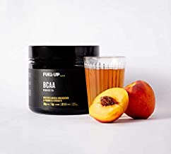 Fuel-Up BCCA 2:1:1 Instantised Powder, Amino Acids, 10g of Branched Chain Amino Acids for Muscle Growth, Repair and Recovery, Peach Ice Tea Flavour