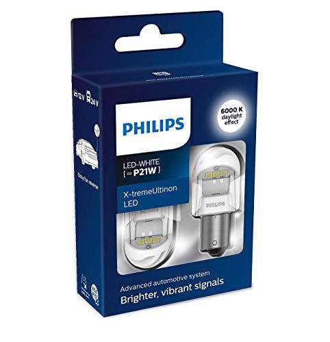 Philips 5145530 automotive lighting 11498XUWX2 LED Lampadina di Segnalazione per Auto (P21W White), Bianco, Set di 2