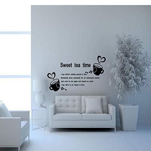 JXMK Wandaufkleber kaffeetasse Wohnzimmer Schlafzimmer hintergrundbild benutzerdefinierte 50x100cm