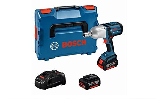 Bosch Professional 18V System Akku Drehschlagschrauber GDS 18 V-LI HT (inkl. 2x5.0Ah Akku, Schnellladegerät, L-BOXX 136)
