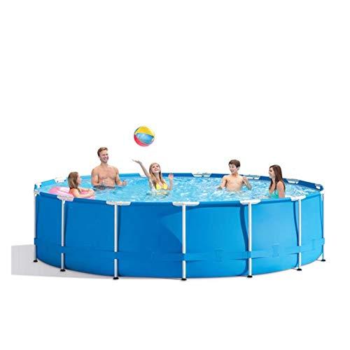 Piscina de marco de metal de 304 x 76 cm con bomba de filtro, piscinas redondas para adultos y niños, al aire libre, patio, jardín, piscina fácil de configurar