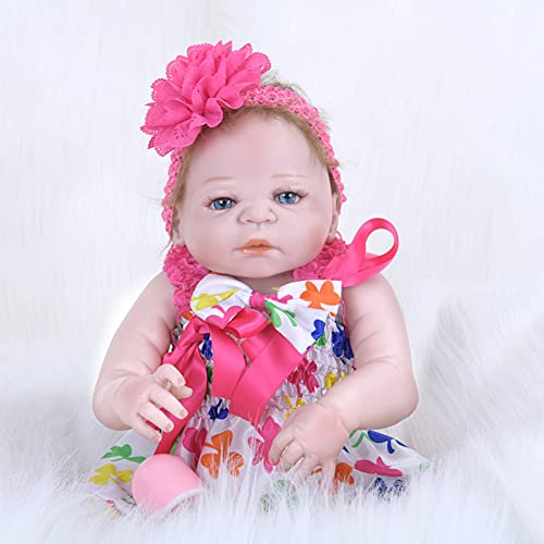 Niña Rubia En Un Traje Scarlett, Realista Reborn Baby Doll Baby Doll Body Body Silicone Recién Nacido Hecho A Mano Simulación De Bebé Molde Toys Regalo 55 Cm