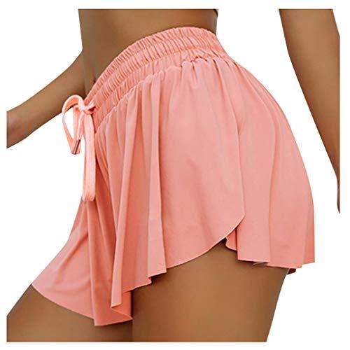 Dasongff Falda con pantalones cortos deportivos para mujer, para gimnasio, deporte, tenis, falda, pantalones deportivos, 2 en 1, con falda deportiva y falda para correr