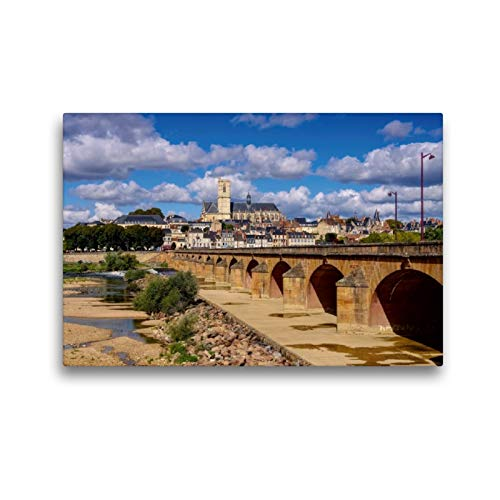 Premium Textil-Leinwand 45 x 30 cm Quer-Format Nevers | Wandbild, HD-Bild auf Keilrahmen, Fertigbild auf hochwertigem Vlies, Leinwanddruck von LianeM