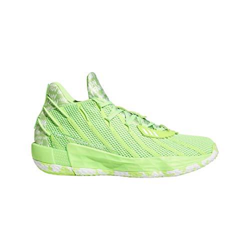 adidas Dame 7 Solargreen/White Basketball Shoes 9