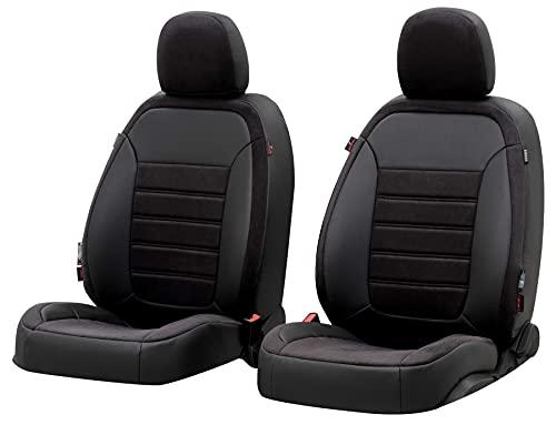 Walser Sitzbezug Bari, Schonbezug kompatibel mit VW Passat Variant (365) 08/2010-12/2015, 2 Einzelsitzbezüge für Normalsitze