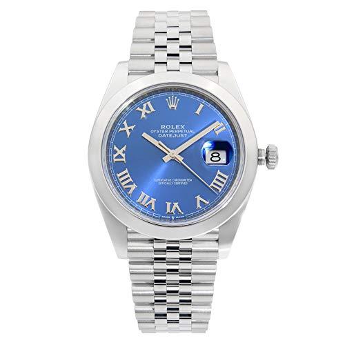 Rolex Datejust 126300 - Reloj de pulsera para hombre (esfera romana azul)
