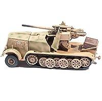 1/72戦車モデルドイツDb9ハーフトラック、88の軍用おもちゃとギフト、3.3インチ&回; 1.6インチ