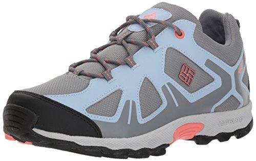 Columbia Fille Chaussures de Randonnée, Imperméable, YOUTH PEAKFREAK XCRSN WP, Taille 39, Bleu (Monument, Melonade)