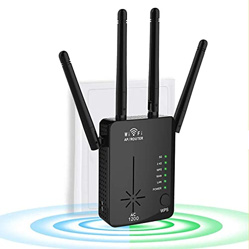 Latest 1200Mbps WiFi Range Extender, 5GHz & 2.4GHz Dual Band Wireless...