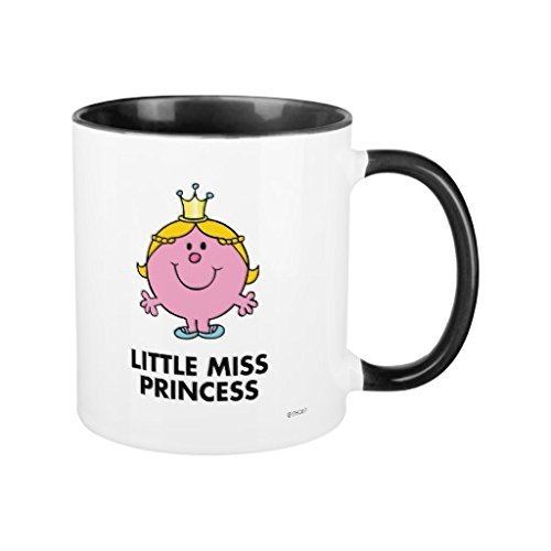 Funny Coffee Mugs for Women Little Miss Princess Crown Background Office Mug Gifts for Christmas 11oz Ceramic Mug Cup Both Sides