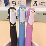 Gysad Gel-Stifte, schwarze Tinte, feine Spitze, niedliche Otter-Kugelschreiber für Frauen und Mädchen, glattes Schreiben, 0,5 mm (zufällige Farbe)